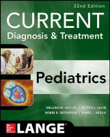 CURRENT DIAGNOSIS & TREATMENT PEDIATRICS 22ND