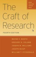 CRAFT OF RESEARCH 4TH