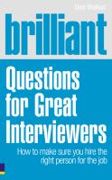 BRILLIANT QUESTIONS FOR GREAT INTERVIEWERS