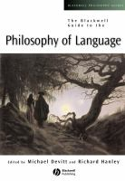 BLACKWELL GUIDE PHILOSOPHY OF LANGUAGE
