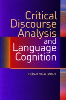 CRITICAL DISCOURSE ANALYSIS & LANGUAGE COGNITION