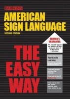 AMERICAN SIGN LANGUAGE THE EASY WAY 2ND