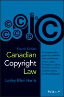 CANADIAN COPYRIGHT LAW 4TH