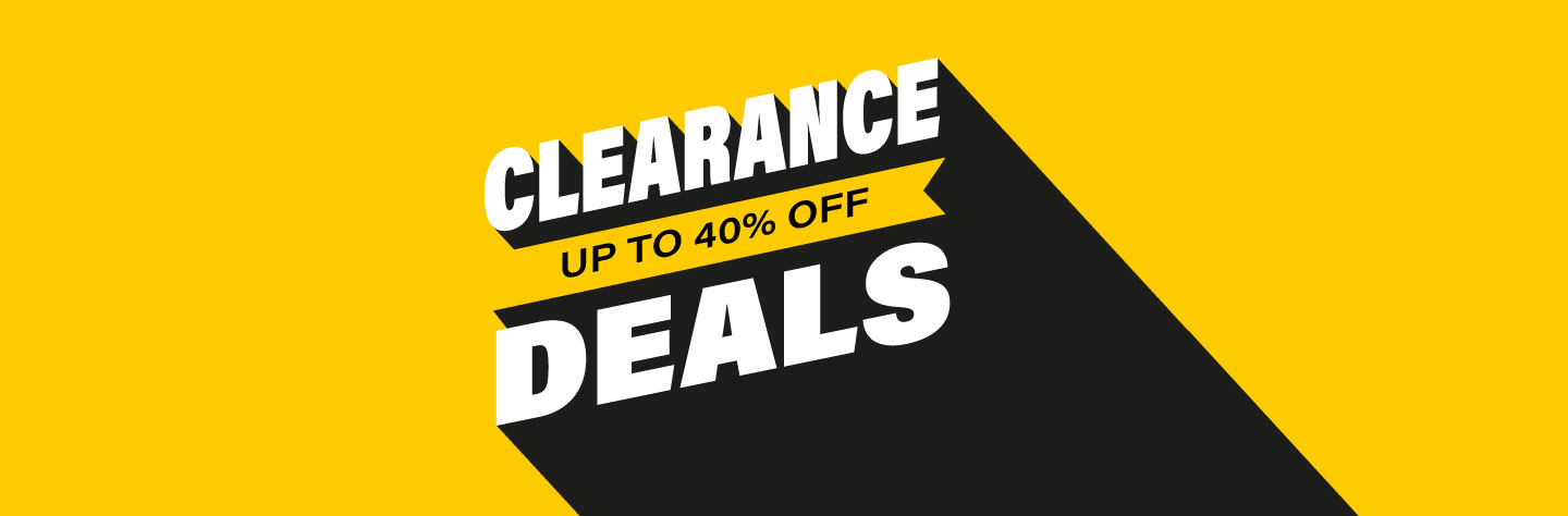 Clearance. Save up to 40%.