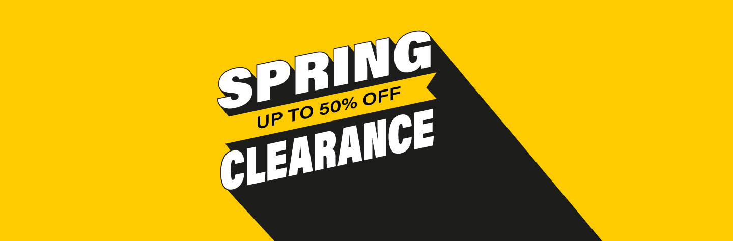 Spring Clearance. Save up to 50%.