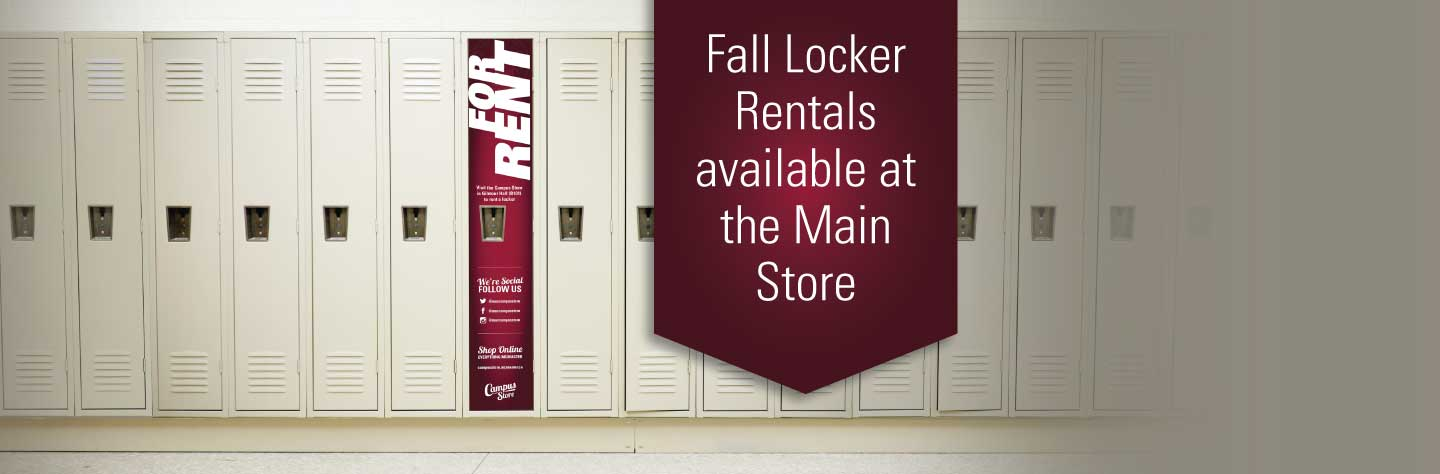 Locker rentals for the fall term start Monday August 19th
