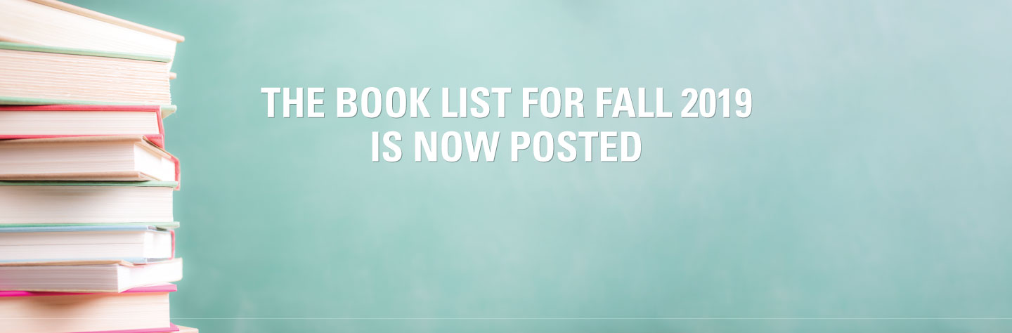The 2019 fall book list will launch on Wednesday August 14th at noon