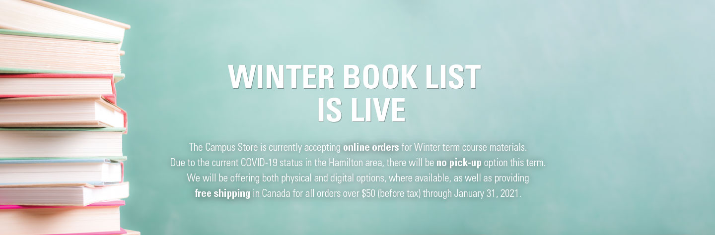 Winter term booklist is now live