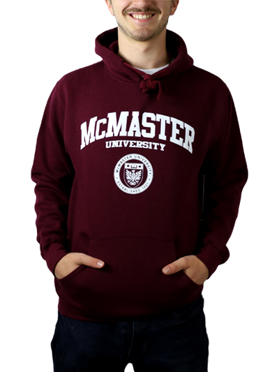 Classic Circle Crest Hooded Sweatshirt - Maroon