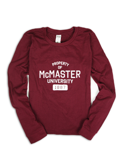 Ladies Property of McMaster Long Sleeve Shirt