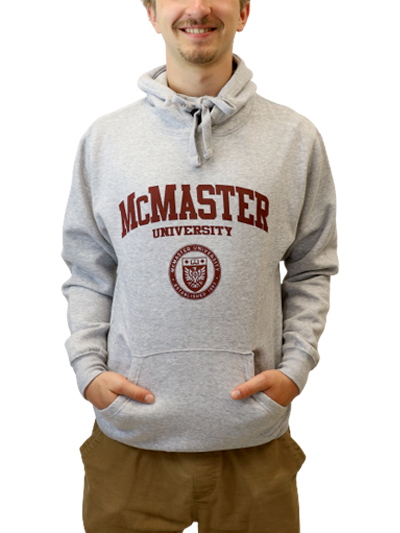 Circle Crest Hooded Sweatshirt - Athletic Grey