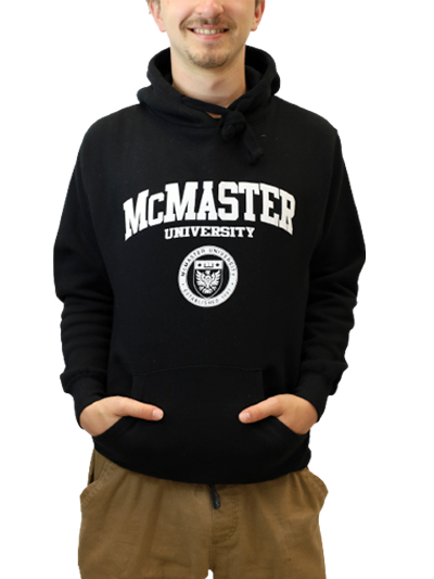 Classic Circle Crest Hooded Sweatshirt- Black