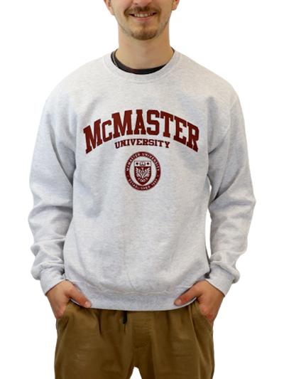 Circle Crest Crewneck Sweatshirt - Grey