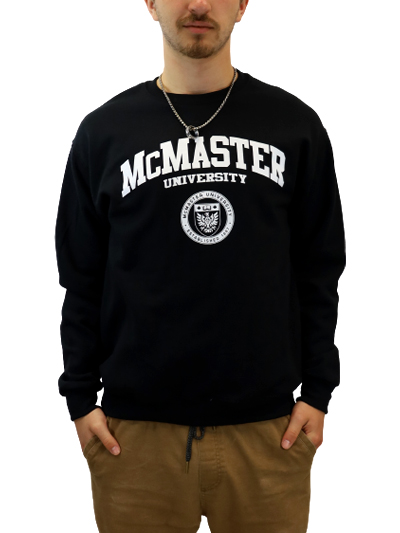 Circle Crest Crewneck Sweatshirt - Black