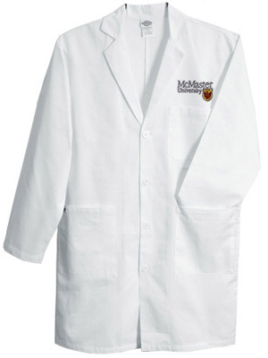 100% Cotton Crested Lab Coat