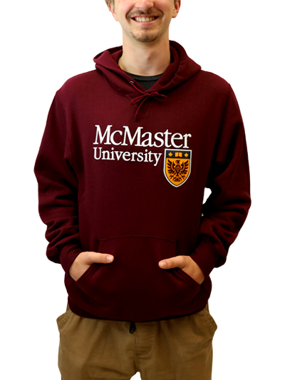 Official Crest Russell Hooded Sweatshirt - Maroon