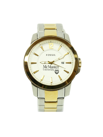 Men's Silver and Gold McMaster Fossil Watch