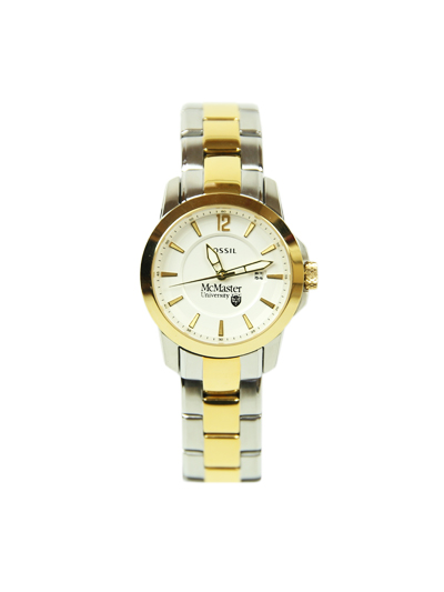Ladies Silver and Gold McMaster Fossil Watch