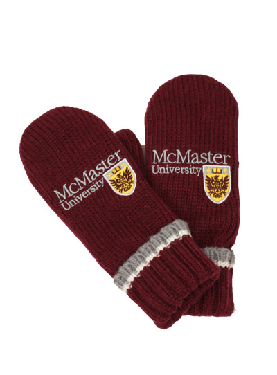 Classic Maroon McMaster Winter Mittens