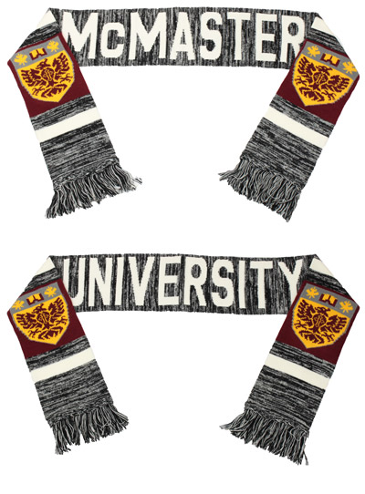McMaster Winter Salt and Pepper Scarf