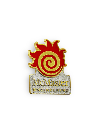 Engineering Fireball Lapel Pin