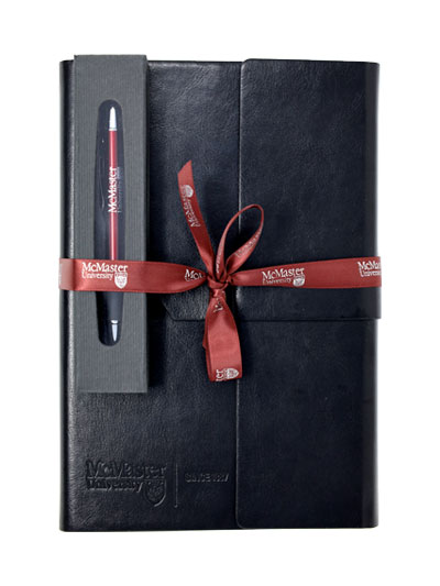 McMaster Leather Notebook & Pen In Case Bundle