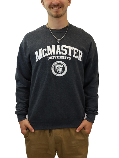 Circle Crest Crewneck Sweatshirt - Charcoal