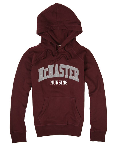 McMaster Nursing Hooded Sweatshirt with Twill and Embroidery