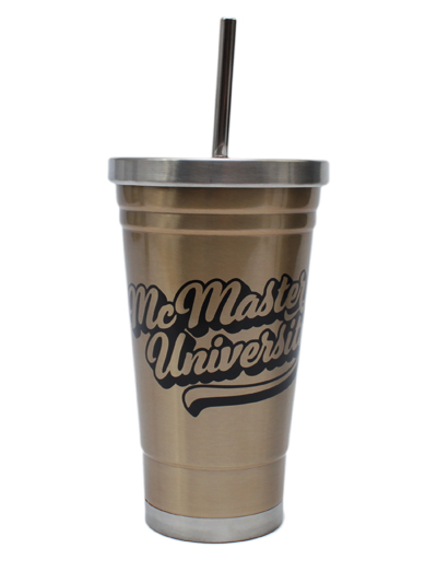 McMaster 18oz. Stainless Steel Waterbottle with Straw