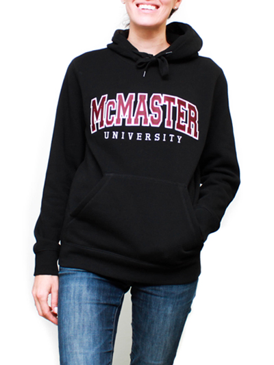 Fitted McMaster University Hooded Sweatshirt