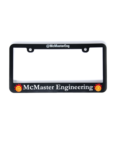 McMaster Engineering License Plate Plastic Holder