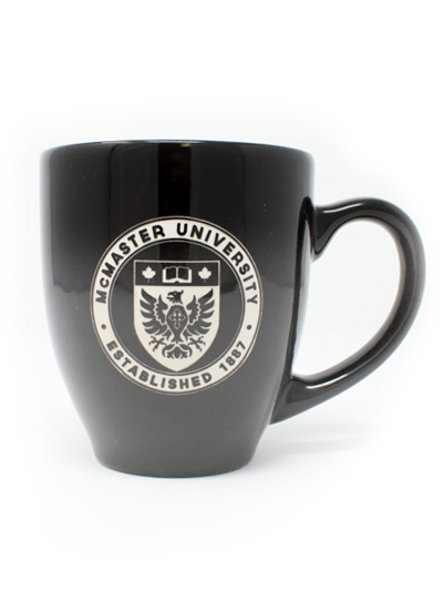 McMaster Circle Crest Etched Mug- 16oz