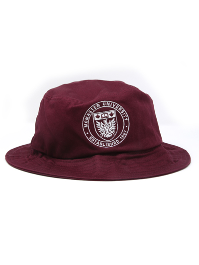 Circle Crest Bucket Hat - Maroon