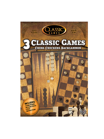 3N1 CHESS-CHECKERS-BACKGAMMON - CLASSIC GAMES