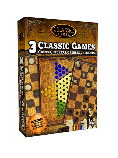 3N1 CHESS-CHECKERS-CHINESECHECKERS - CLASSIC GAMES