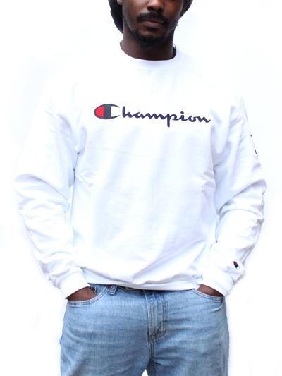 Champion Crewneck with McMaster Crest