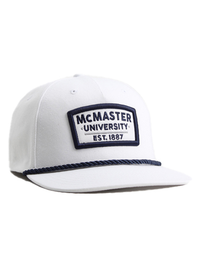 McMaster Baseball cap with rope detail