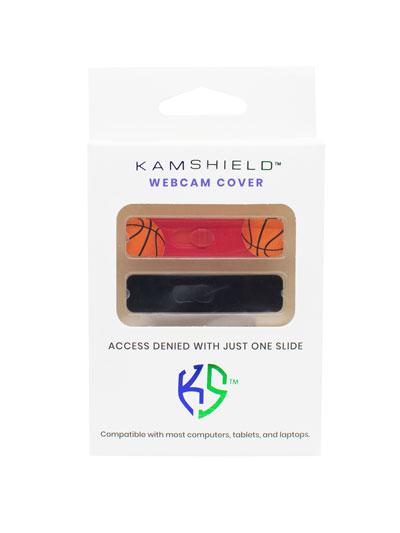 KAMSHIELD WEBCAM COVERS - 2PK - BASKETBALL/BK