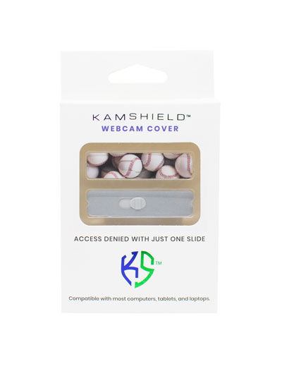 KAMSHIELD WEBCAM COVERS - 2PK - BASEBALL/SILVER