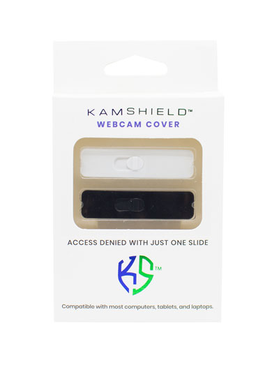 KAMSHIELD WEBCAM COVERS - 2PK - BK/WH