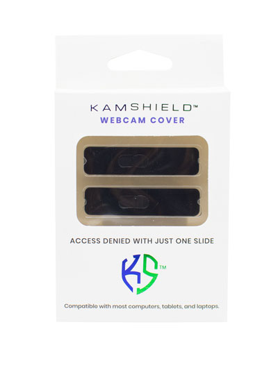 KAMSHIELD WEBCAM COVERS - 2PK - BK/BK
