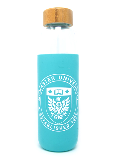 Kai Glass Water Bottle - Teal