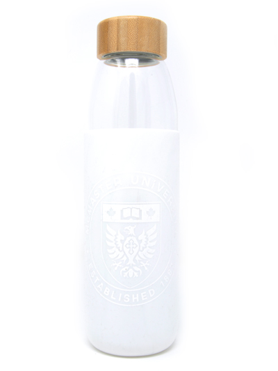 Kai Glass Water Bottle - White