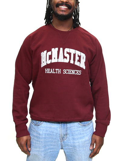 McMaster Health Sciences Crewneck Sweatshirt with Twill and Embroidery