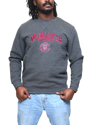 Circle Crest Embroidered Crewneck Sweatshirt