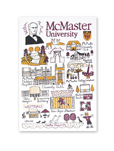 McMaster University Cityscape Post Card
