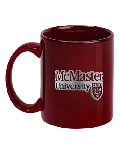 Coffee Cup with McMaster Emblem in Pewter