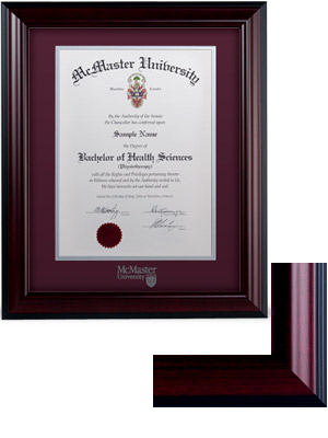 Classic Degree Frame | McMaster University Campus Store