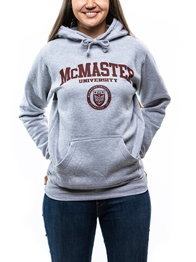 Classic Circle Crest Hooded Sweatshirt - Athletic Grey