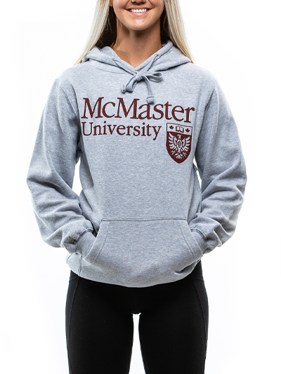 Classic Official Crest Hooded Sweatshirt - Grey